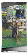 Do-00128 Boatshed At Brisbane Water Beach Towel