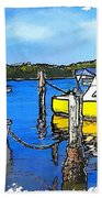 Do-00147 Resting Boats Beach Towel