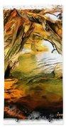 Do-00268 Trees On Water In Avoca Estuary Beach Towel