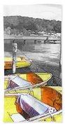 Do-00279 Yellow Boats Beach Towel