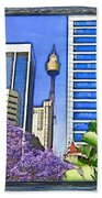Do-00285 Sydney Centre Tower In Spring Beach Towel