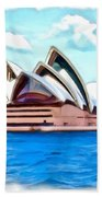 Do-00293 Sydney Opera House Beach Towel