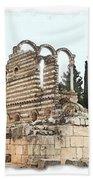 Do-00306 Old Ruins In Anjar Beach Towel