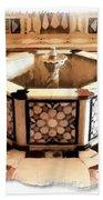 Do-00323 Old Bath Fountain Beach Towel