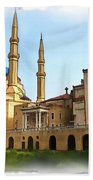Do-00362al Amin Mosque And St George Maronite Cathedral Beach Towel
