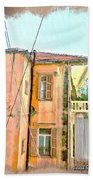 Do-00386 Old Building In Mar Mikhael Beach Towel