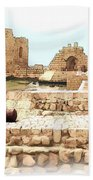 Do-00423 Citadel Of Sidon Beach Towel