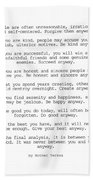 Do It Anyway By Mother Teresa #minimalism #inspirational Beach Sheet