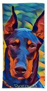 Doberman I C Beach Towel