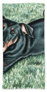 Dobermann Beach Towel