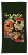 Doc Savage He Could Stop The World Beach Sheet
