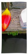 Dock And Boats Beach Towel