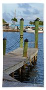 Dock In The Keys Beach Towel