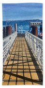 Dock Of Tiburon Sfo Beach Towel