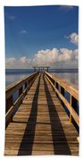 Dock On The Lake Beach Towel