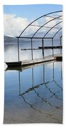 Dock Reflection Beach Towel