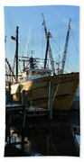Docks At Darien  Beach Towel