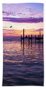 Dockside Sunset Beach Towel