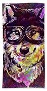 Dog Funny Cheeky Cap Animal Wild  Beach Towel