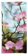 Dogwood Flowers Pink Dogwood Tree Landscape 9 Giclee Art Prints Baslee Troutman Beach Towel