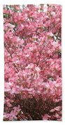 Dogwood Tree Flowers Art Prints Canvas Pink Dogwood Beach Towel