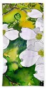 Dogwood Tree Flowers Beach Towel