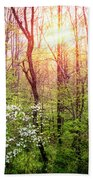 Dogwoods In The Forest Beach Towel