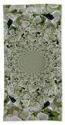 Doily Of Flowers Beach Towel