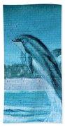 Dolphin Mural Beach Towel