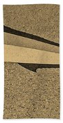 Dolphinfish In Sepia Tones Beach Towel