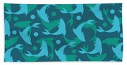 Dolphins In Blue  Beach Towel