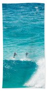 Dolphins Jumping Beach Towel