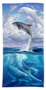 Dolphonic Symphony Beach Towel