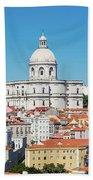 Dome Of Gothic Church In Lisbon Beach Towel