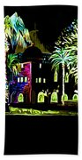 Dome Of The Rock At Night Beach Towel