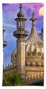 Domes In The Sunset Beach Towel