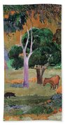 Dominican Landscape Beach Towel by Paul Gauguin