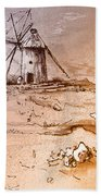 Don Quijote Windmills 06 Beach Towel