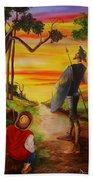 Don Quixote And Sancho Beach Towel