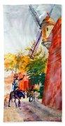 Don Quixote In San Juan Beach Towel by Estela Robles