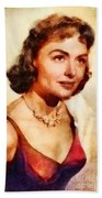 Donna Reed, Vintage Hollywood Actress Beach Towel