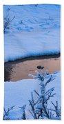 Donnelly Creek In Winter Beach Towel