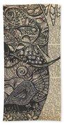 Doodle Bird Beach Towel