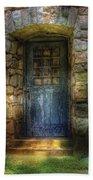 Door - A Rather Old Door Leading To Somewhere Beach Towel