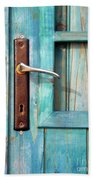 Door Handle Beach Towel by Carlos Caetano