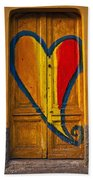 Door With Heart Beach Towel by Joana Kruse