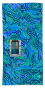 Doorway Into Multi-layers Of Water Art Collage Beach Sheet
