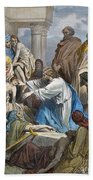 Dor�: Jesus Healing Sick Beach Towel