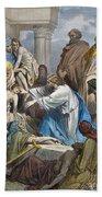 Dor�: Jesus Healing Sick Beach Sheet