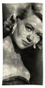 Dorothy Malone Vintage Hollywood Actress Beach Towel